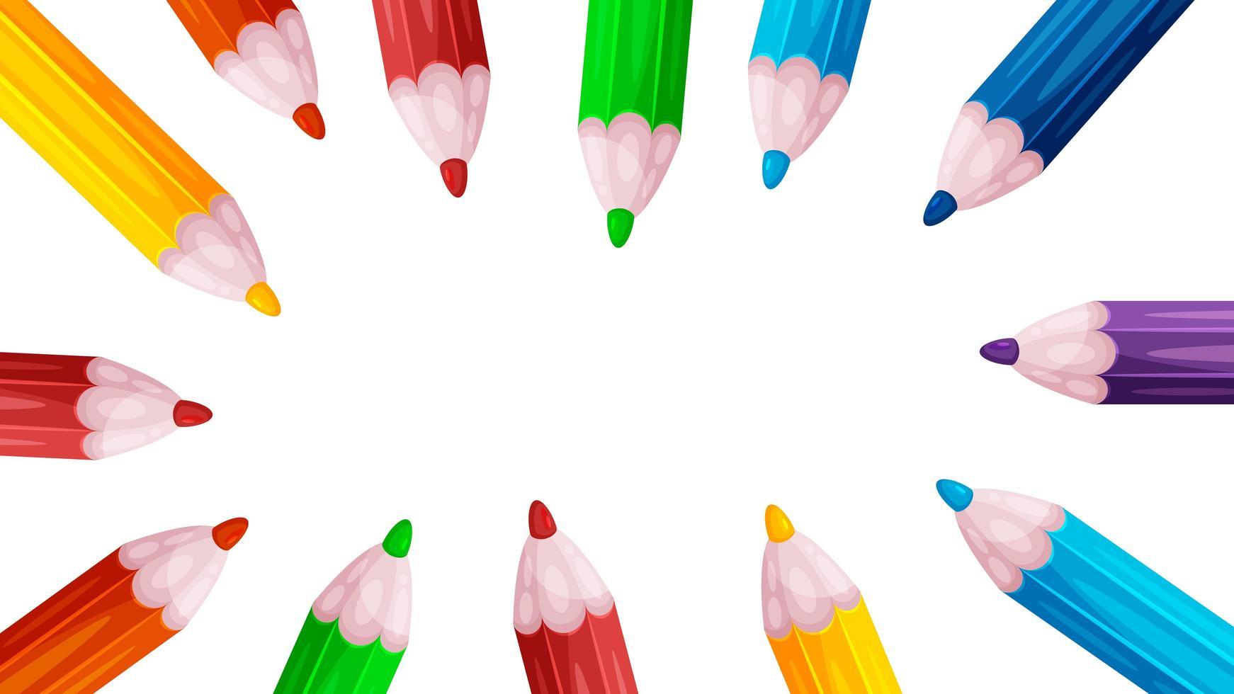 sfondo di matite colorate vettore