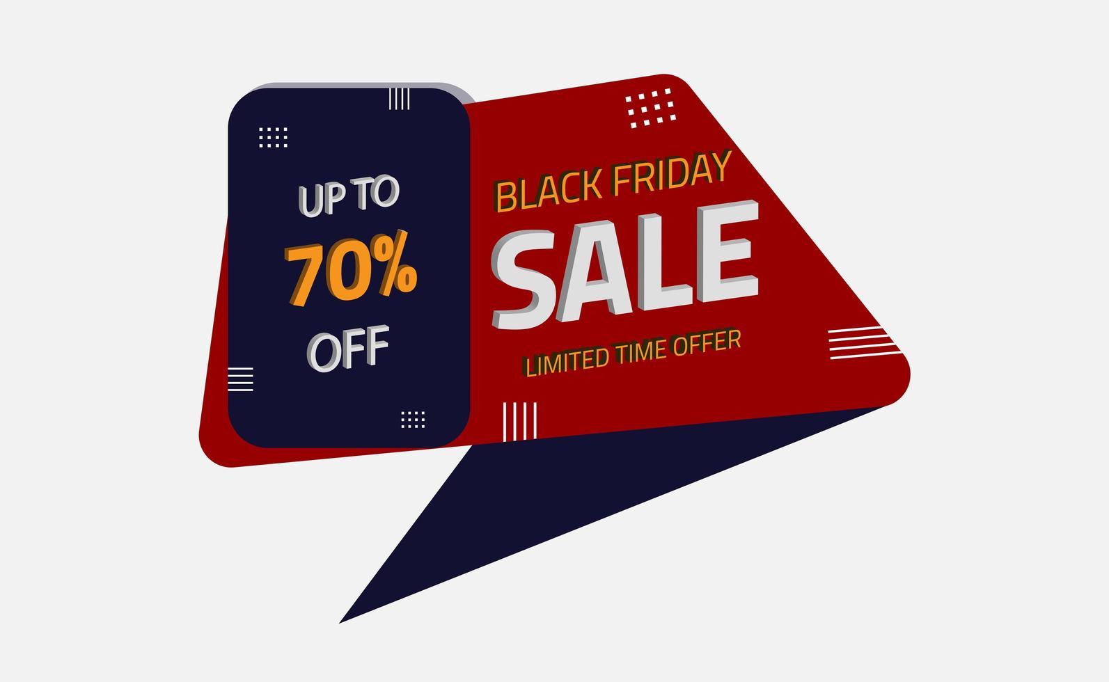 banner di forma geometrica in vendita venerdì nero vettore