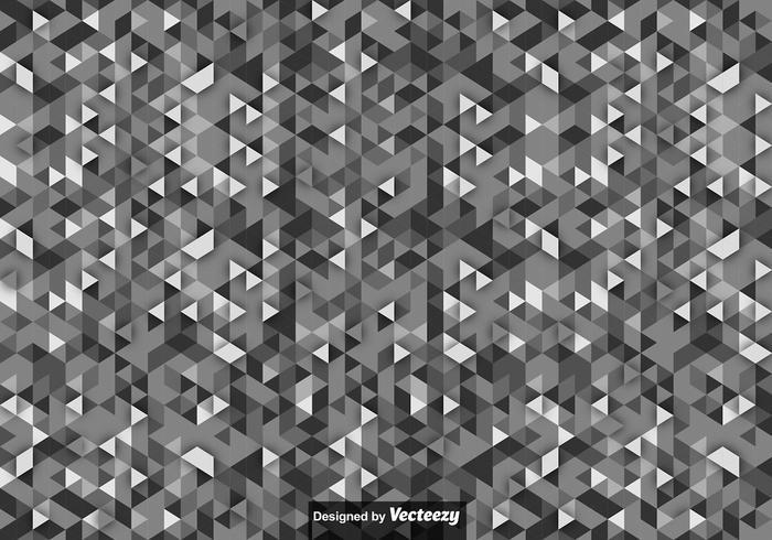 Sfondo vettoriale con triangoli di scala di grigi