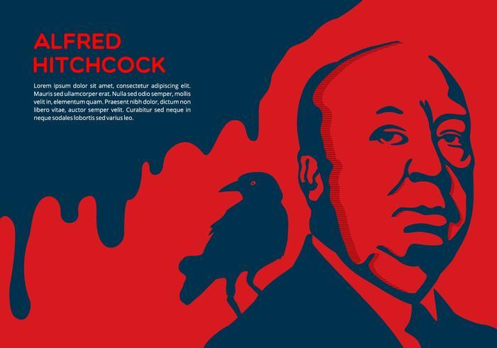 Sfondo drammatico di Hitchcock vettore
