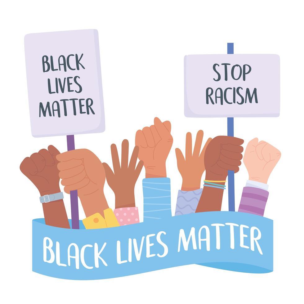 le vite nere contano e fermano la campagna di sensibilizzazione al razzismo vettore