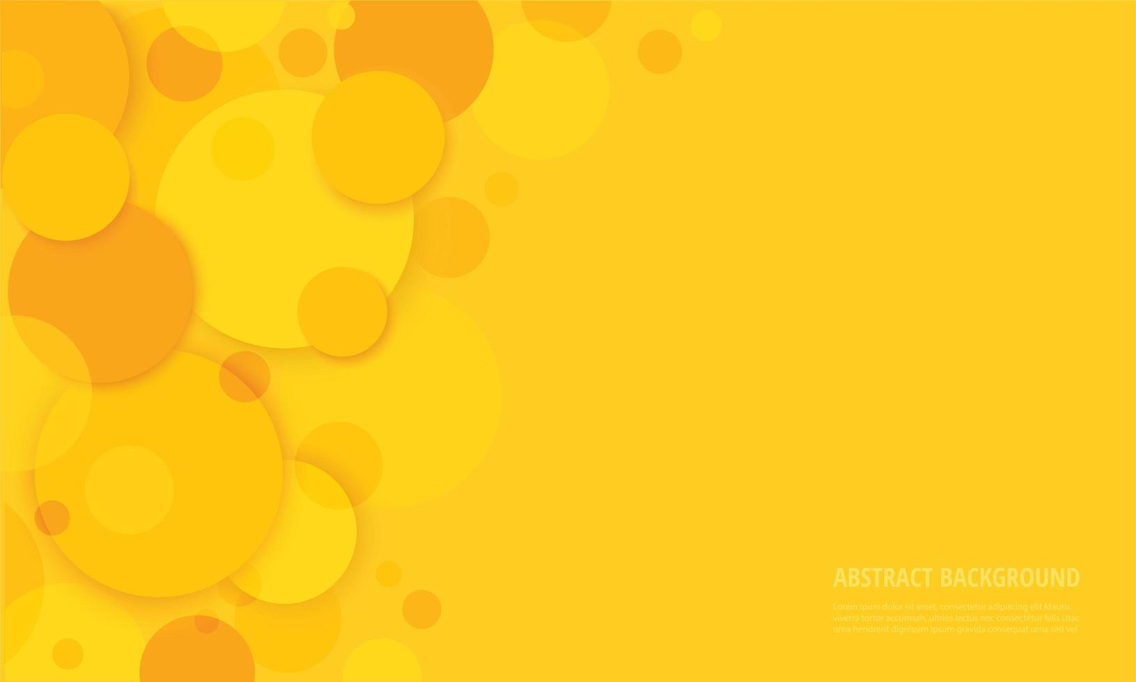cerchi astratti sfondo giallo vettore