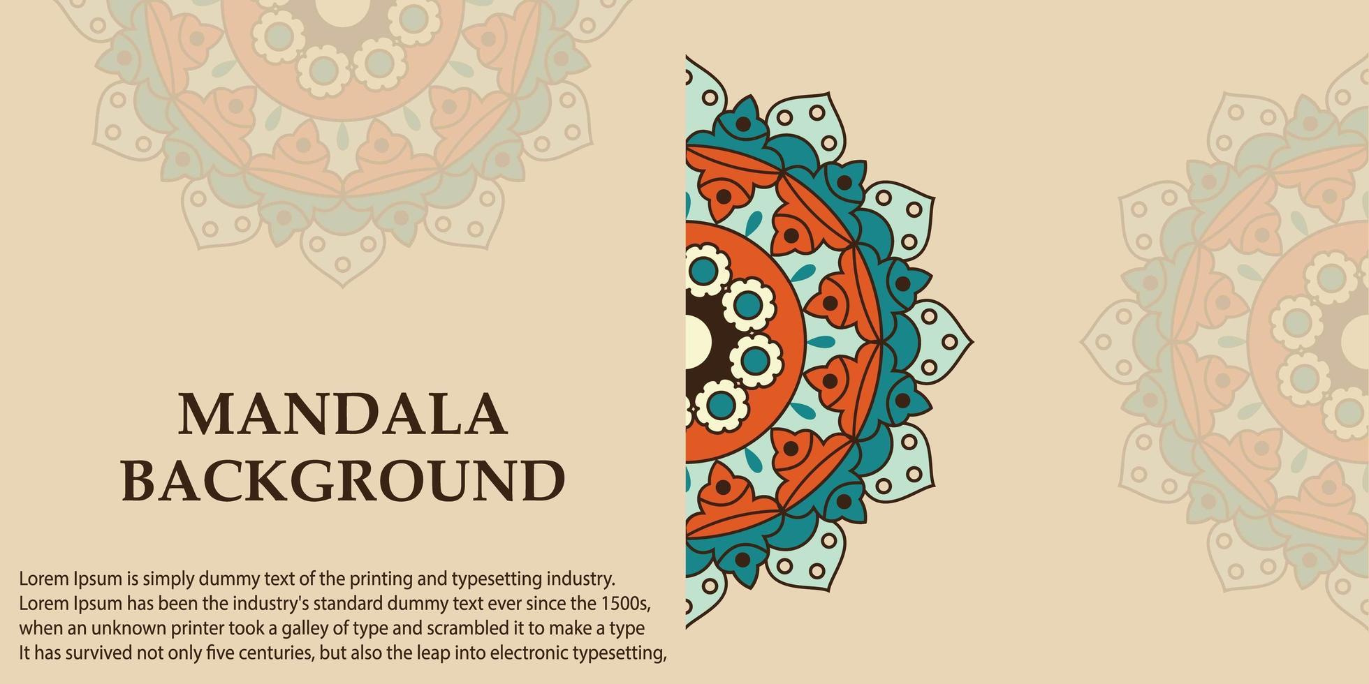 mandala art design backgroud vettore