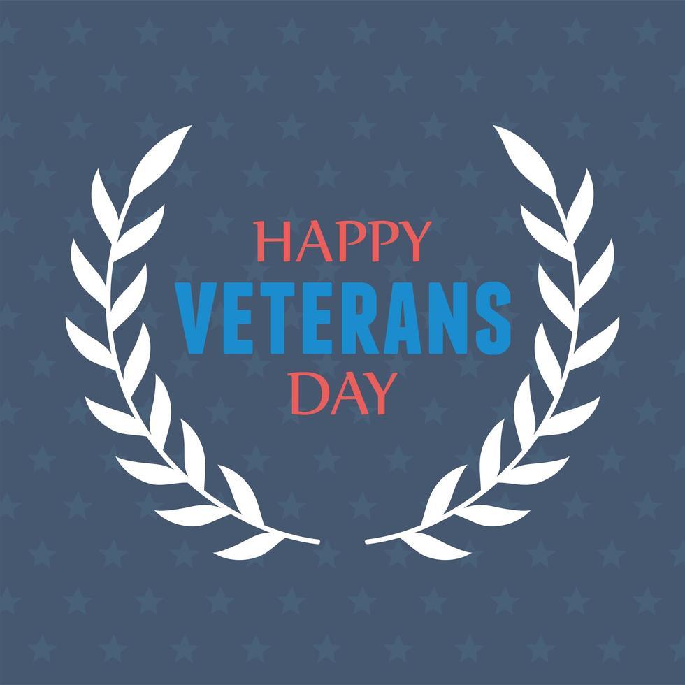 Felice giorno dei Veterani. emblema delle forze armate militari statunitensi vettore