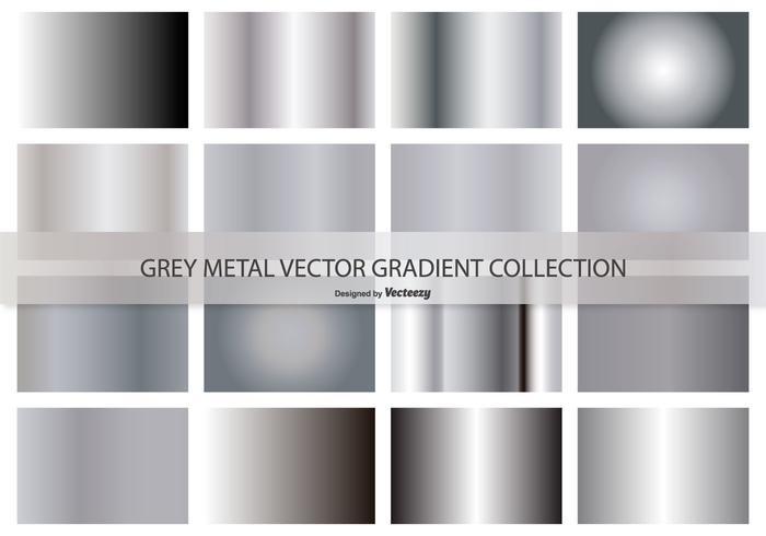 Metal Gray Vector Gradient Collection