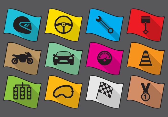 Icone della corsa piatta vettore