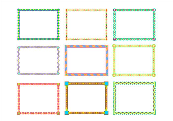 Vettore di frontiera Funky Frames Vector