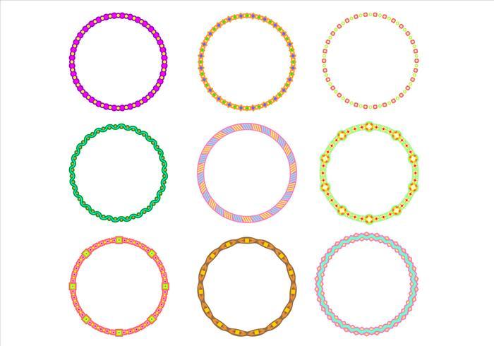 Vettore Funky Frames del confine sveglio del cerchio