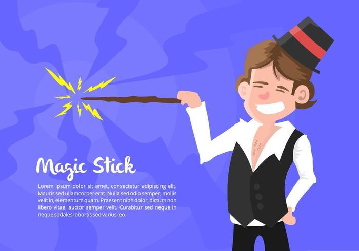 Illustrazione del mago vettore