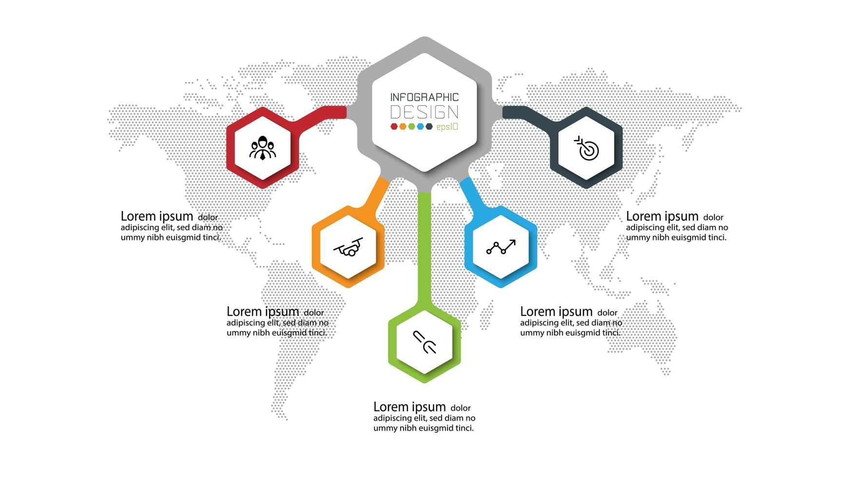 moderno modello di infografica per la presentazione di banner vettore