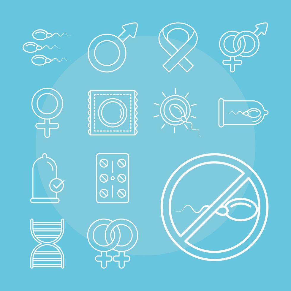salute sessuale. metodi di pianificazione familiare stabiliti vettore