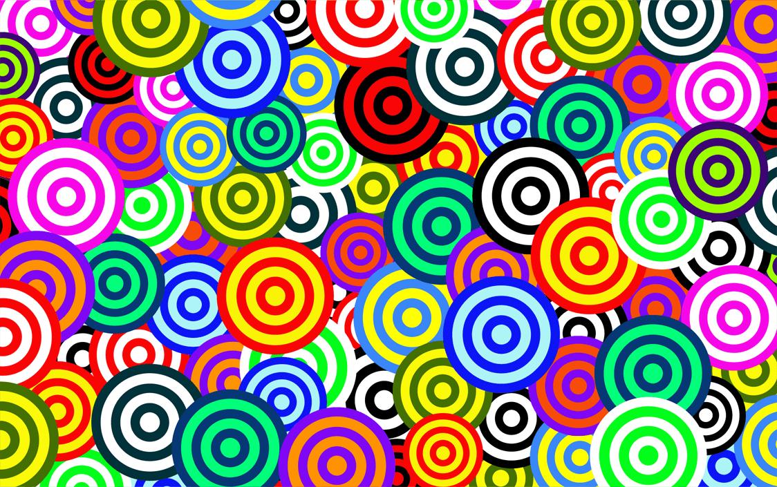 modello cerchio colorato vettore