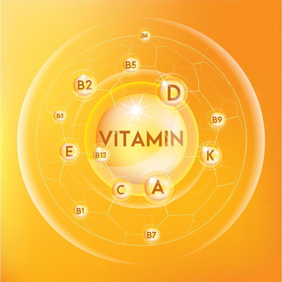 banner di vitamina infografica vettore