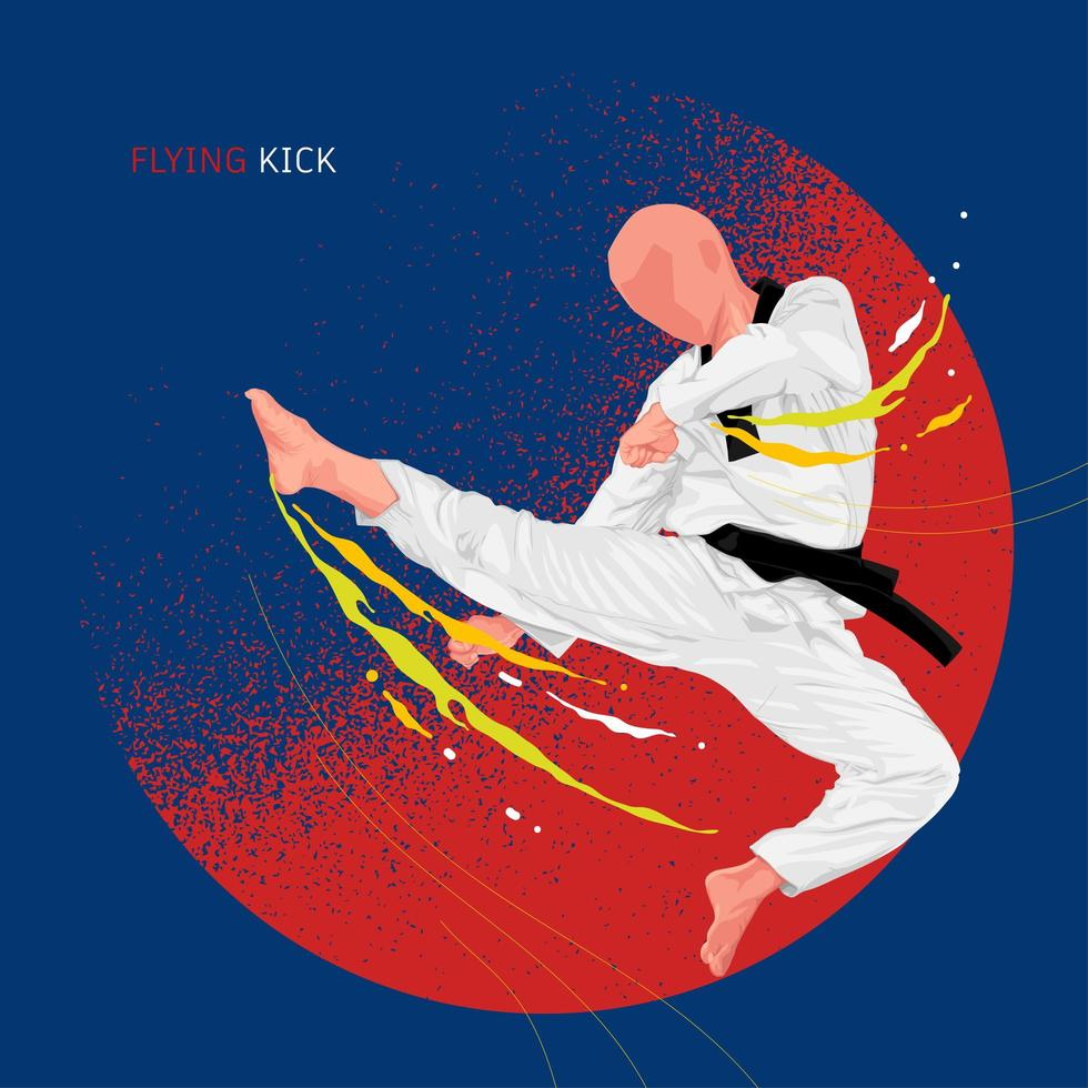 design di poster di karate taekwondo vettore