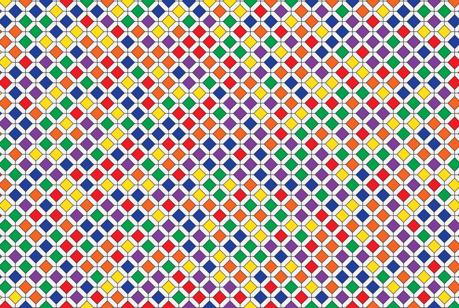 motivo a mosaico geometrico colorato vettore