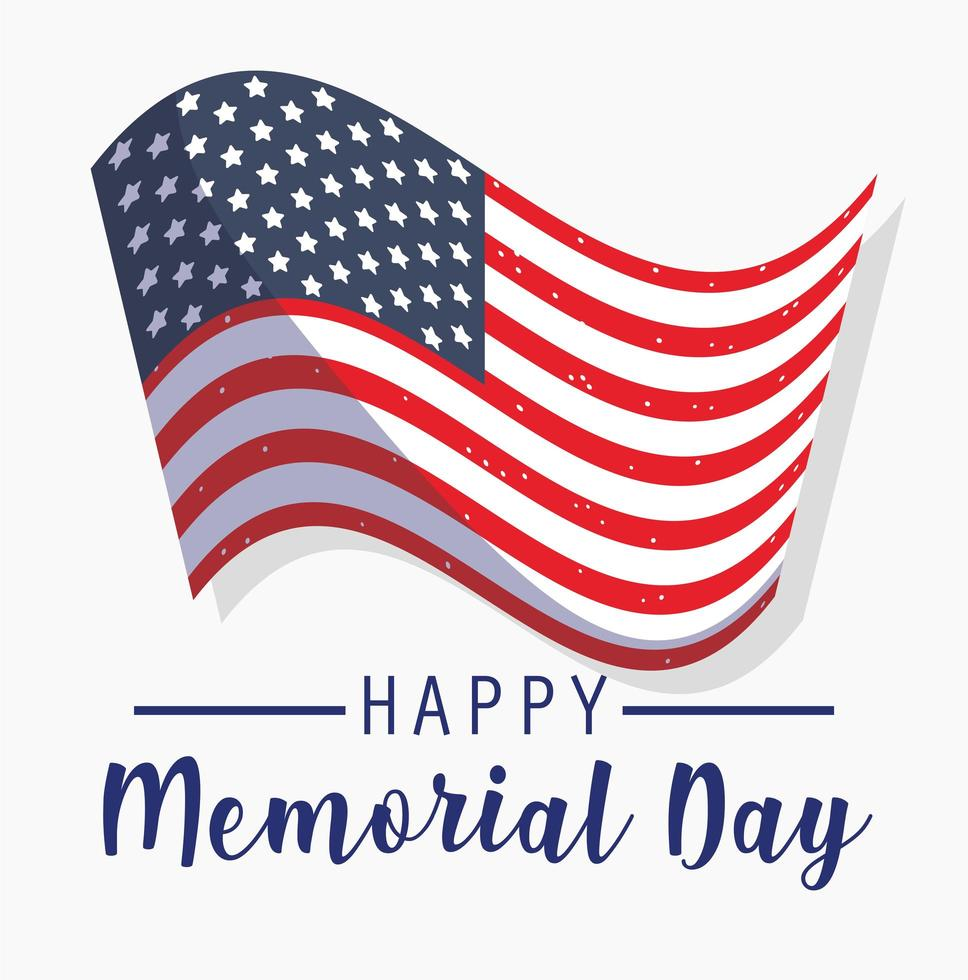 festa del memorial day e tema patriottico vettore