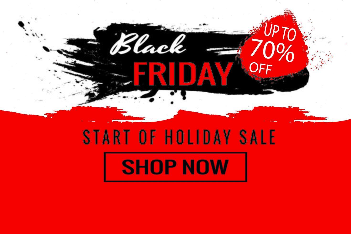 inizio del poster di vendita del venerdì nero vettore