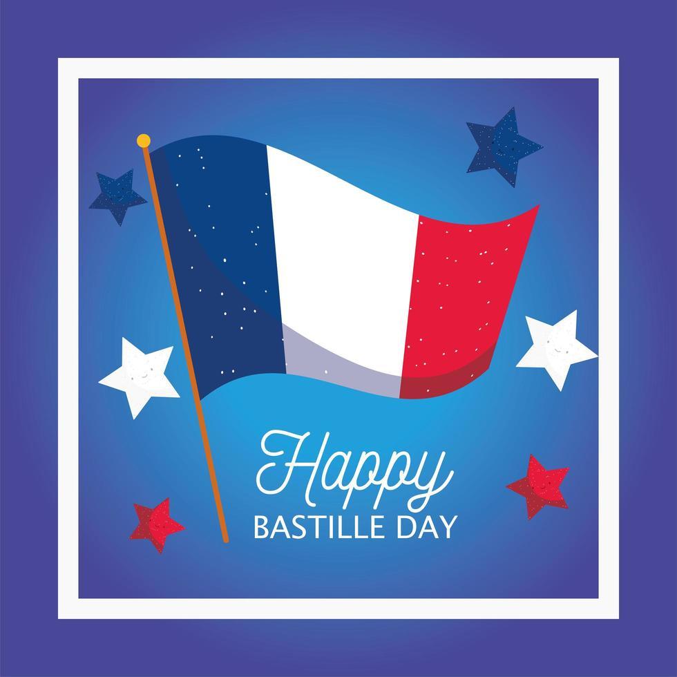 bandiera della francia con stelle all'interno vettore