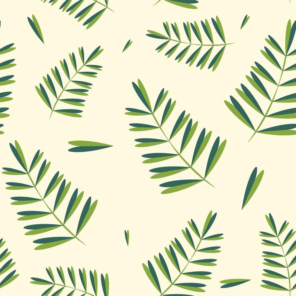 modello semplice foglie tropicali vettore