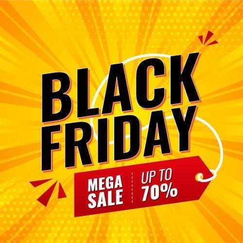 banner di vendita mega venerdì nero vettore