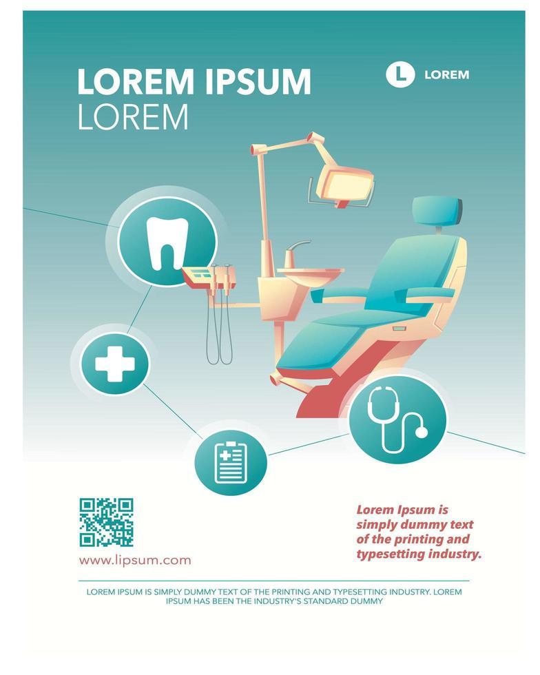 poster di promozione aziendale medica di consapevolezza dentale vettore