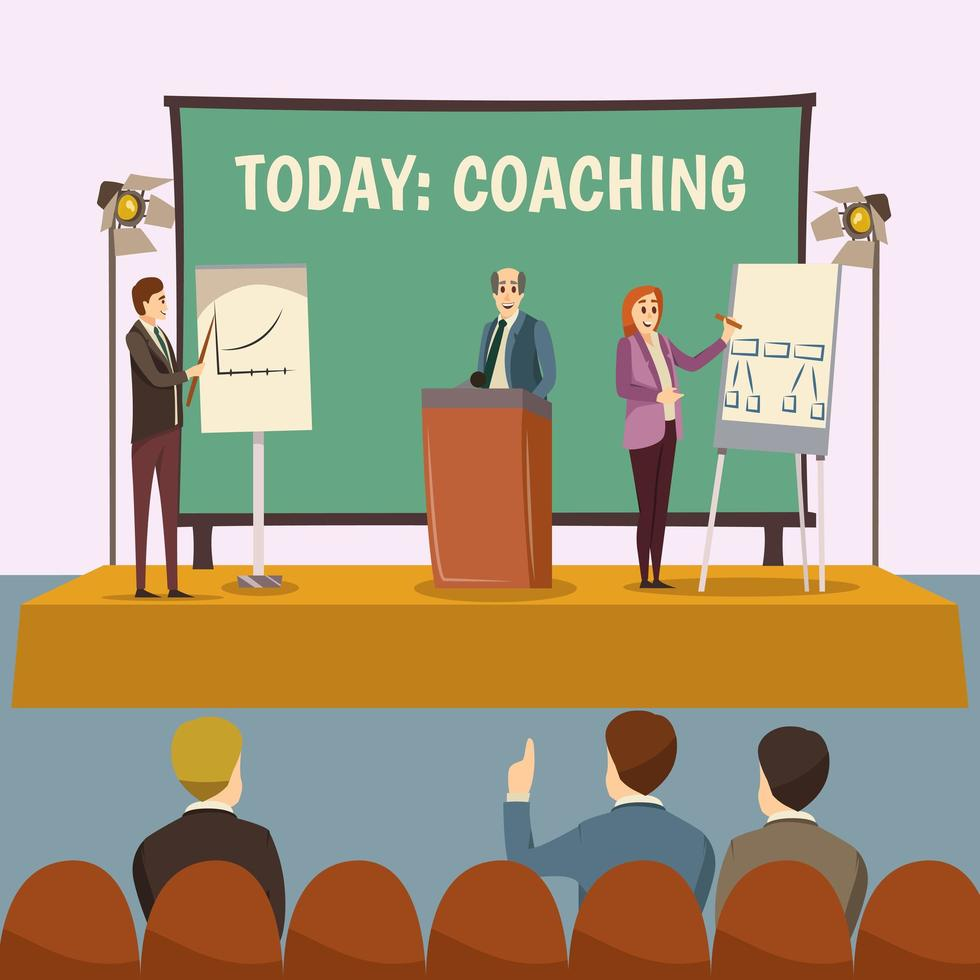 coaching e presentazione aziendale vettore