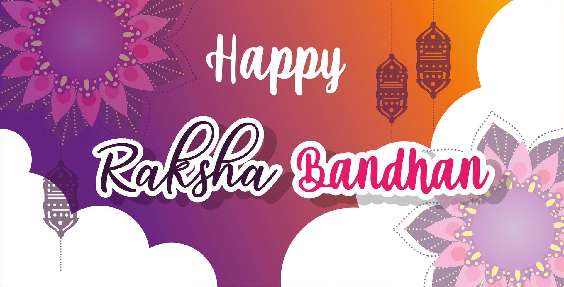 felice poster design raksha bandhan vettore