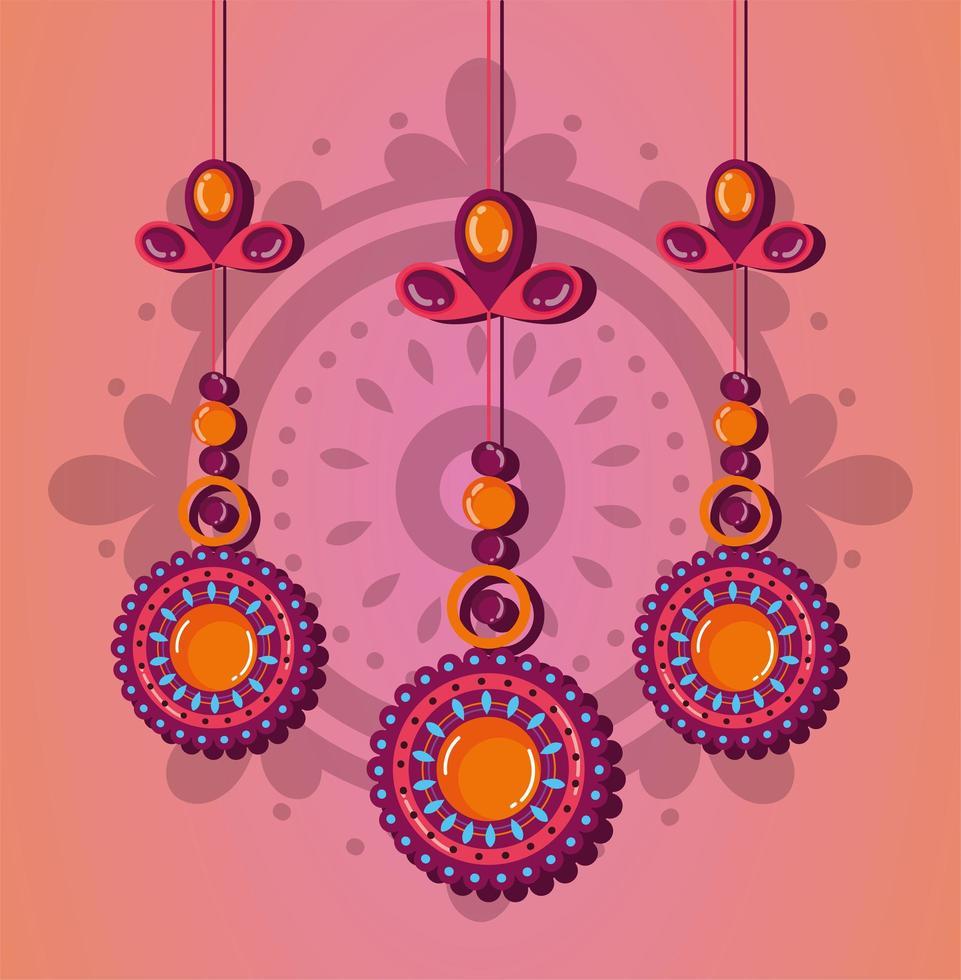raksha bandhan ornamento decorativo design vettore