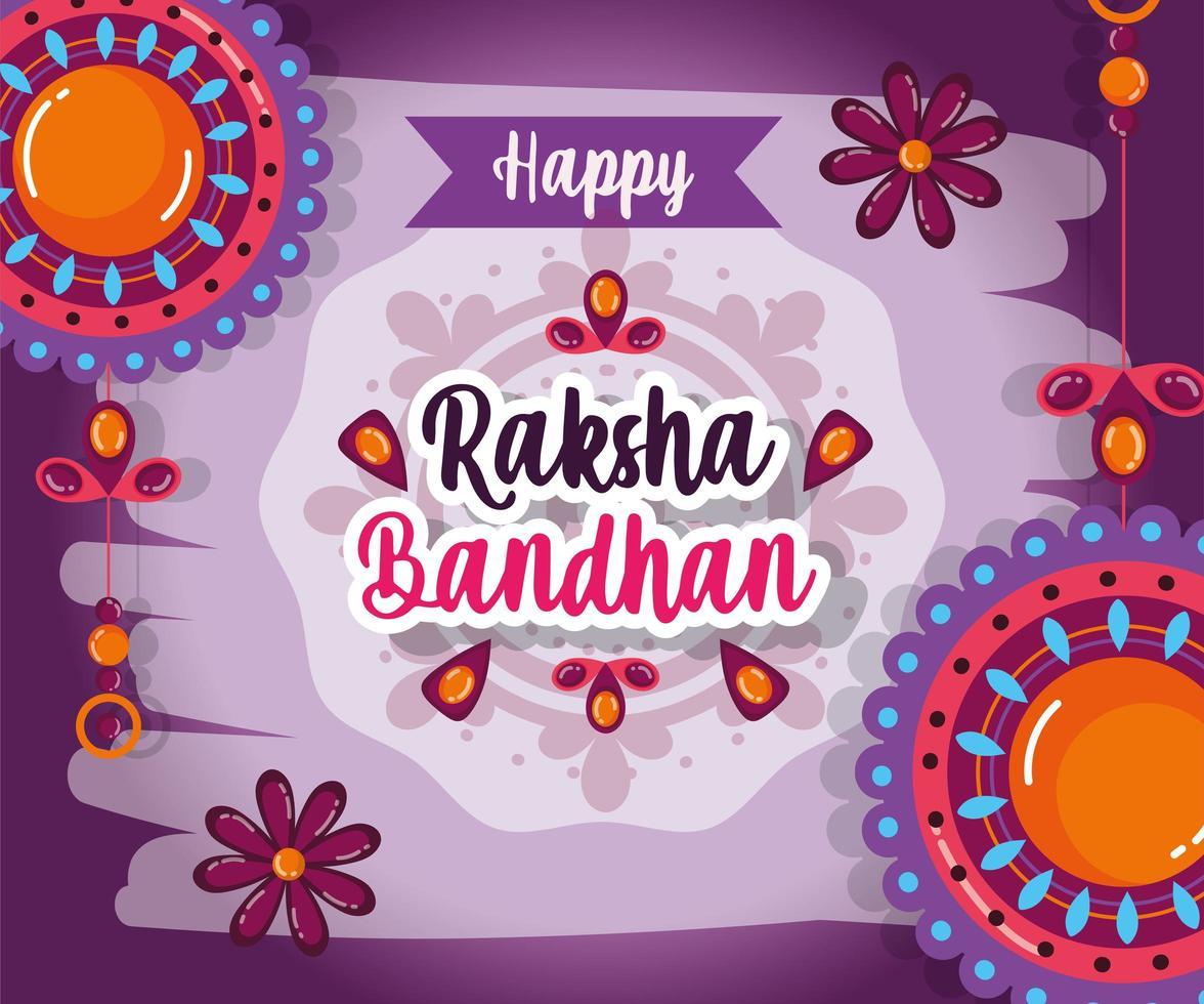 poster di vendita mega di raksha bandhan vettore