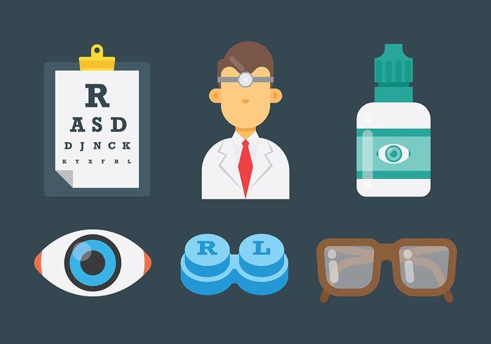 Vettore maschio delle icone di medico dell'occhio