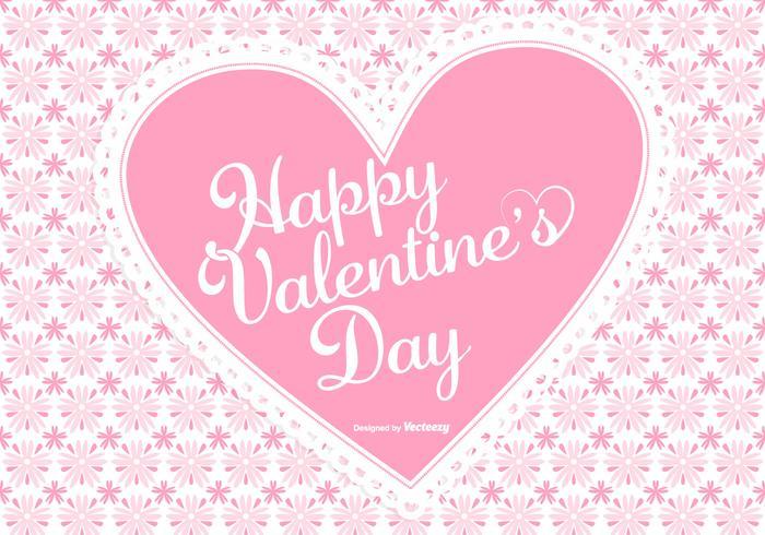 Carino sfondo rosa di San Valentino vettore