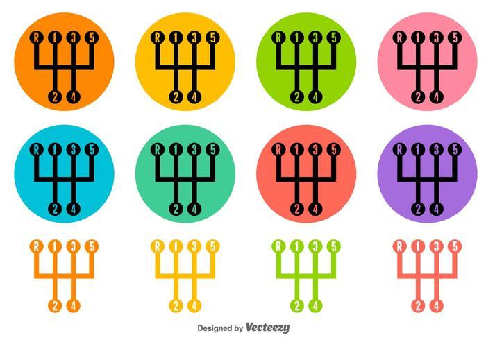 Icone di vettore del cambio colorato