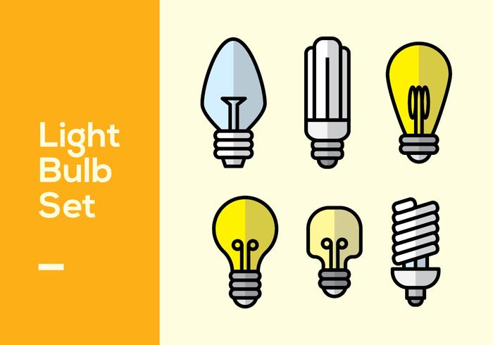 Set di lampadine vettore