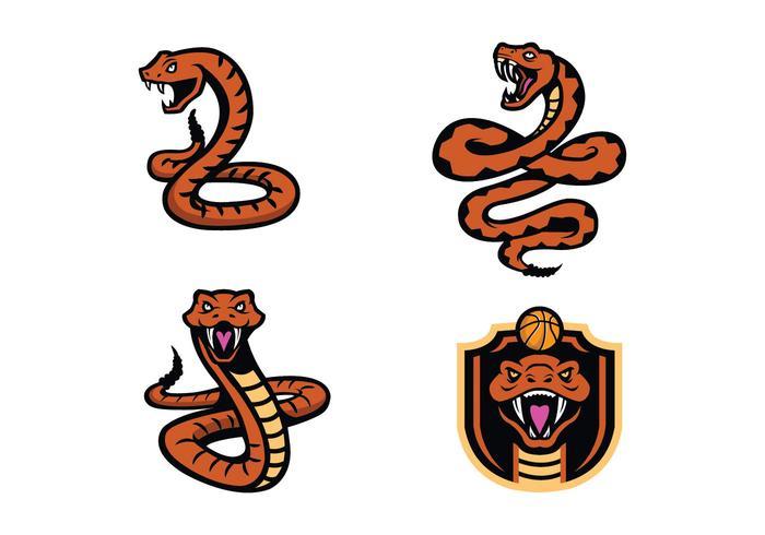 vettore della mascotte del serpente di serpenti a sonagli