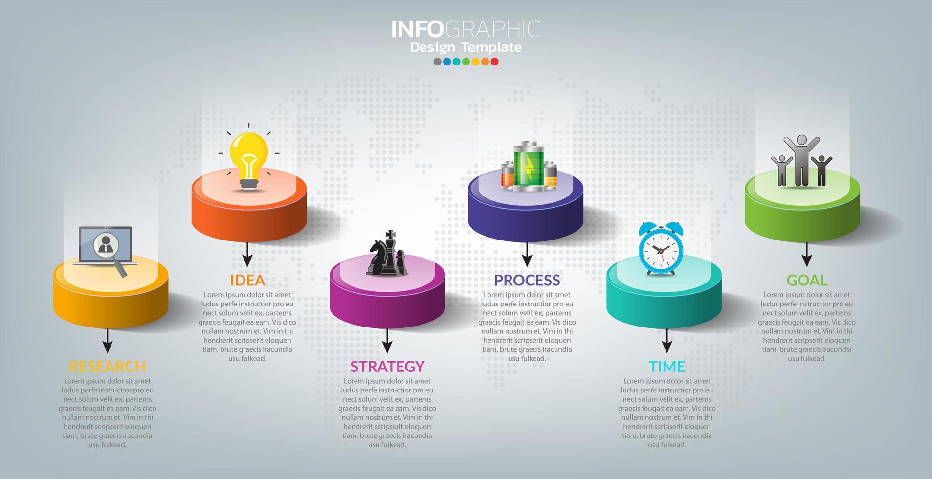 infografica per affari con il concetto di successo vettore