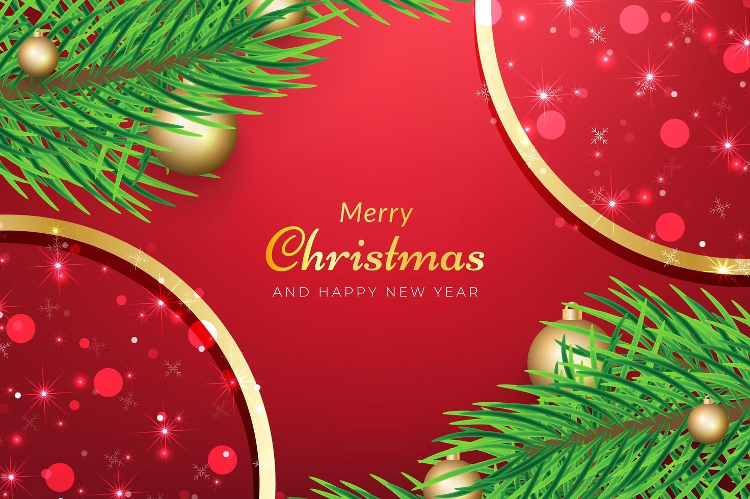 sfondo di Natale con i rami degli alberi vettore