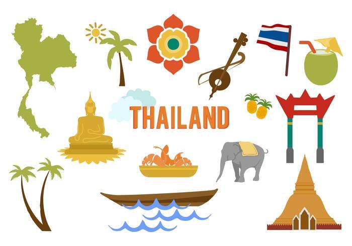 Vettore degli elementi della Tailandia