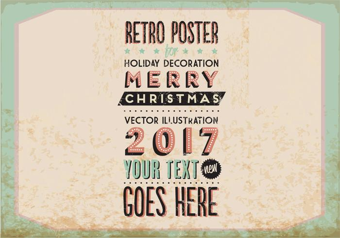 Vintage Holiday Marquee-Style vettoriale