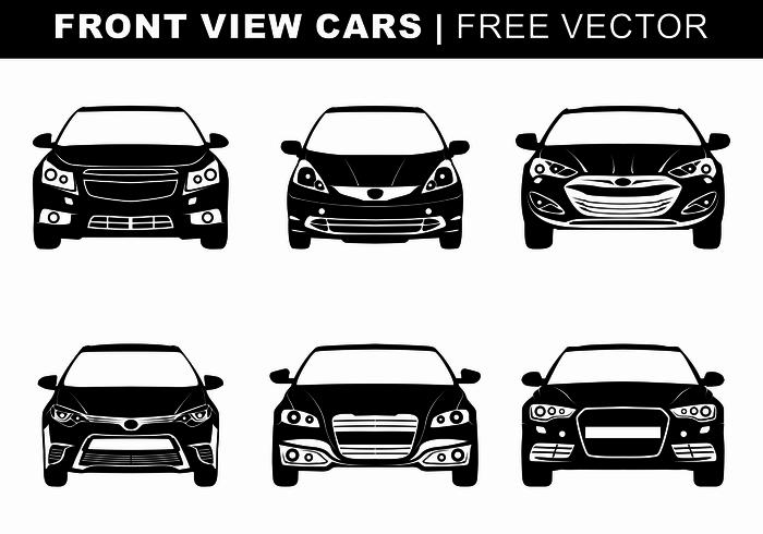 Vettore di automobili di vista frontale