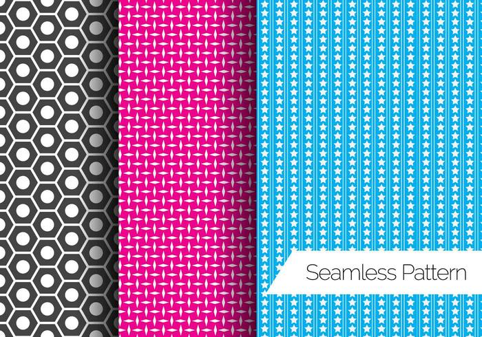 Tre vettori Seamless Pattern