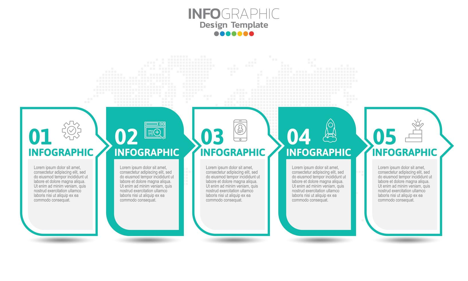 infografica per il concetto di business con le icone vettore
