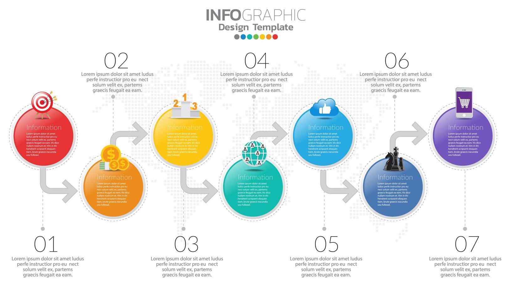 modello di infografica timeline con le frecce vettore