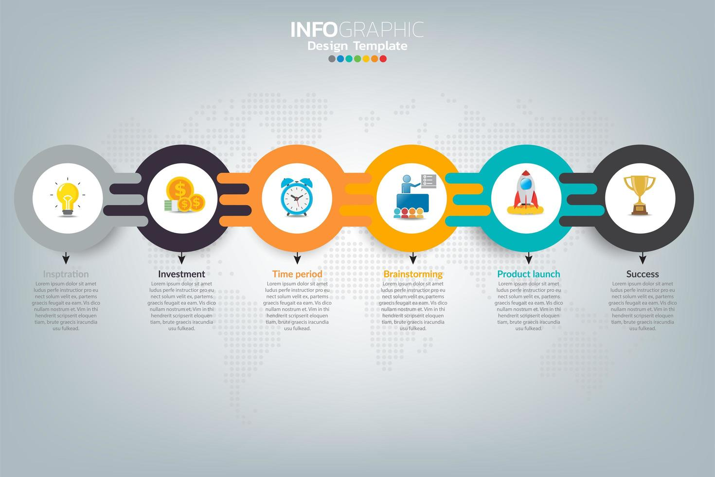 come infografica di affari di successo vettore