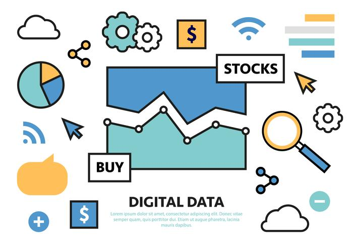 Illustrazione di vettore di affari di vendita digitale