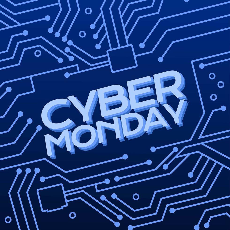 sfondo di cyber lunedì vettore