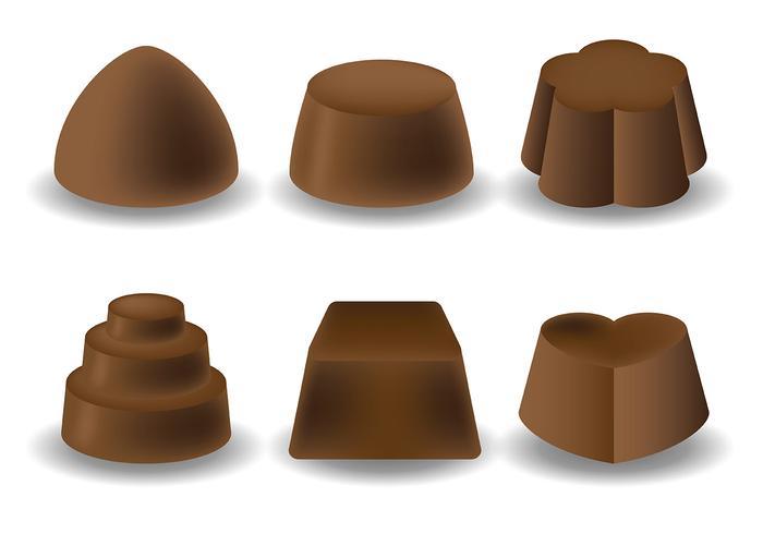 Vettore libero delle icone del cioccolato