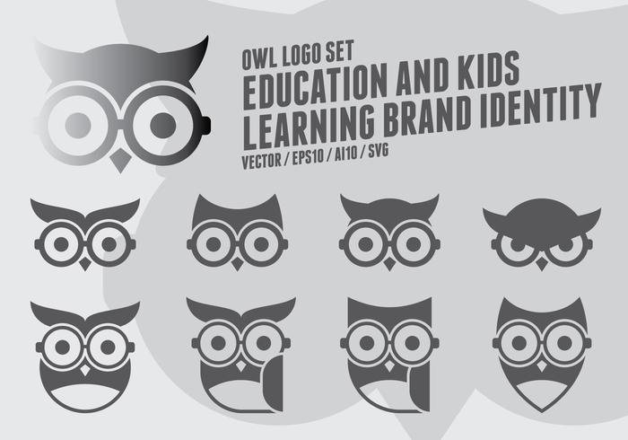 Logo Geek Owl vettore