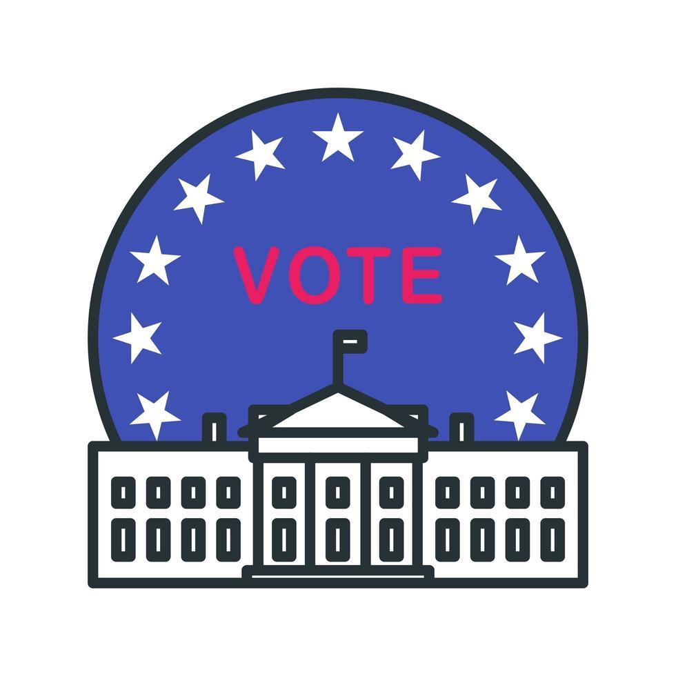 icona di voto del palazzo del governo vettore