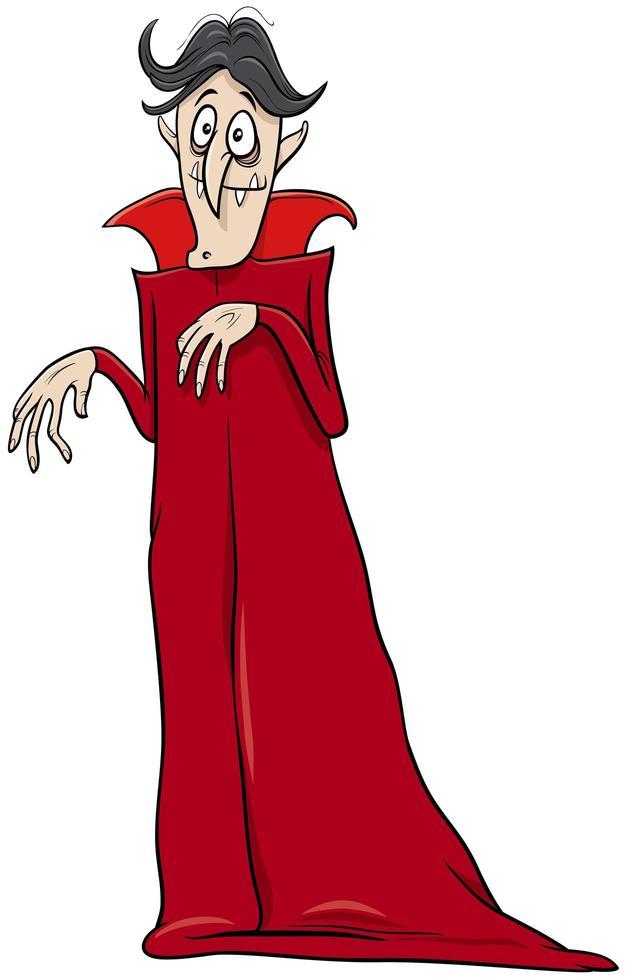 vampiro halloween personaggio dei cartoni animati illustrazione vettore