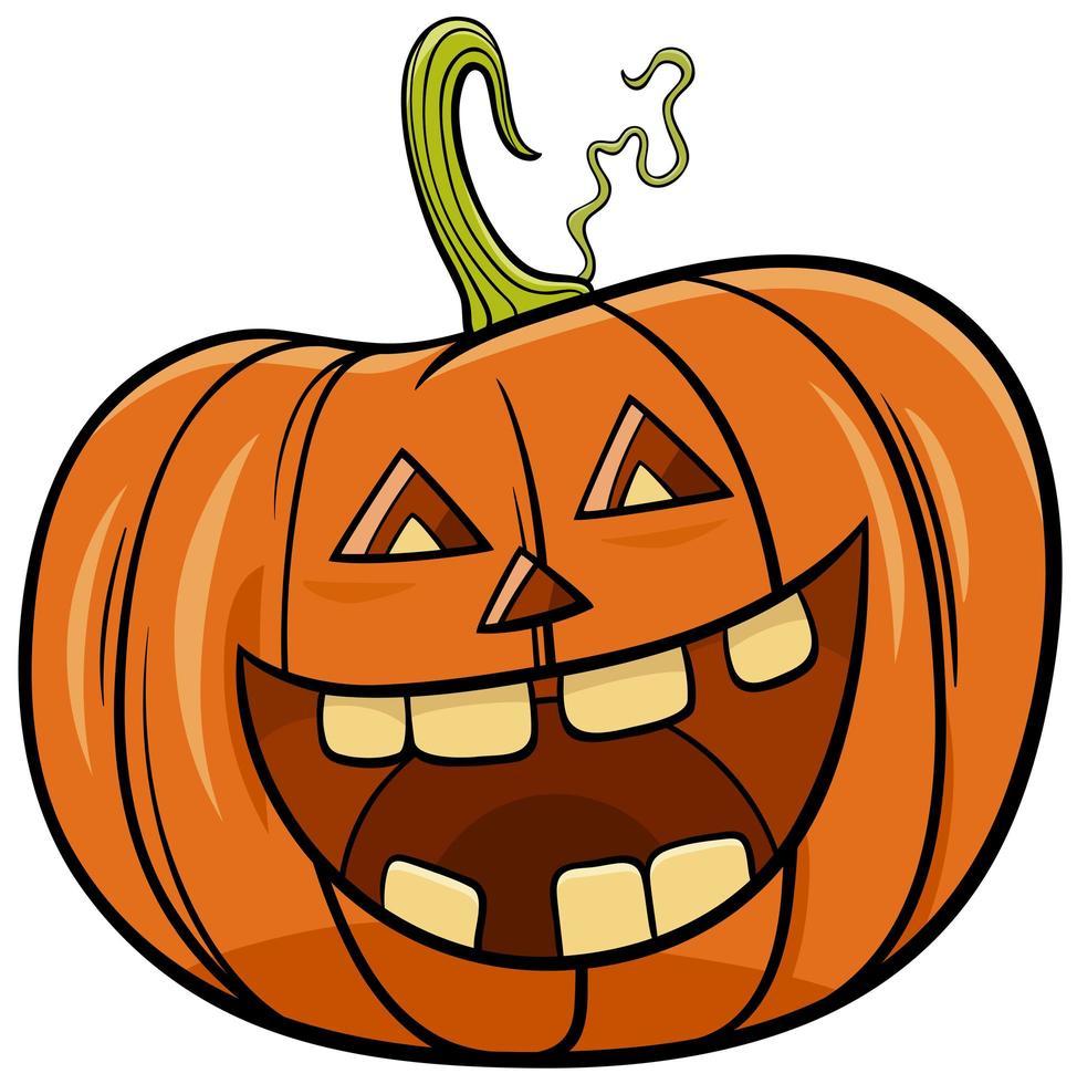 illustrazione del fumetto del carattere della zucca di Halloween vettore